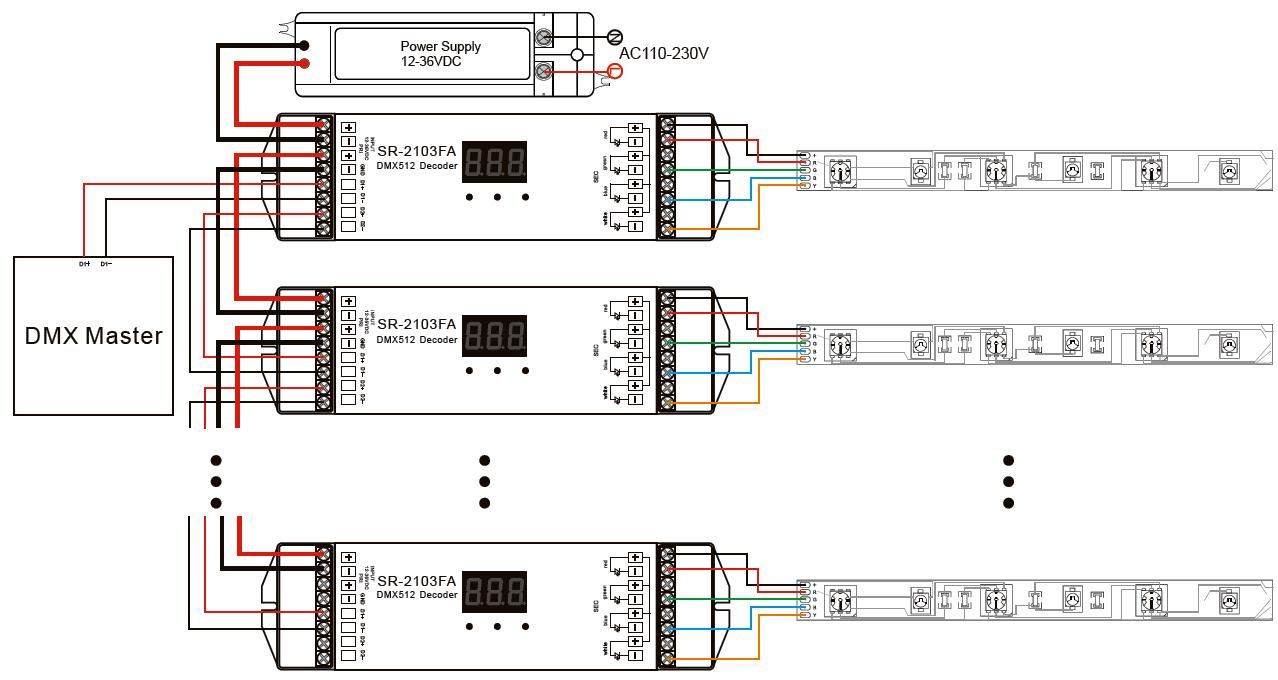 Dmx 512 Decoder Konstantstrom Mit Stand