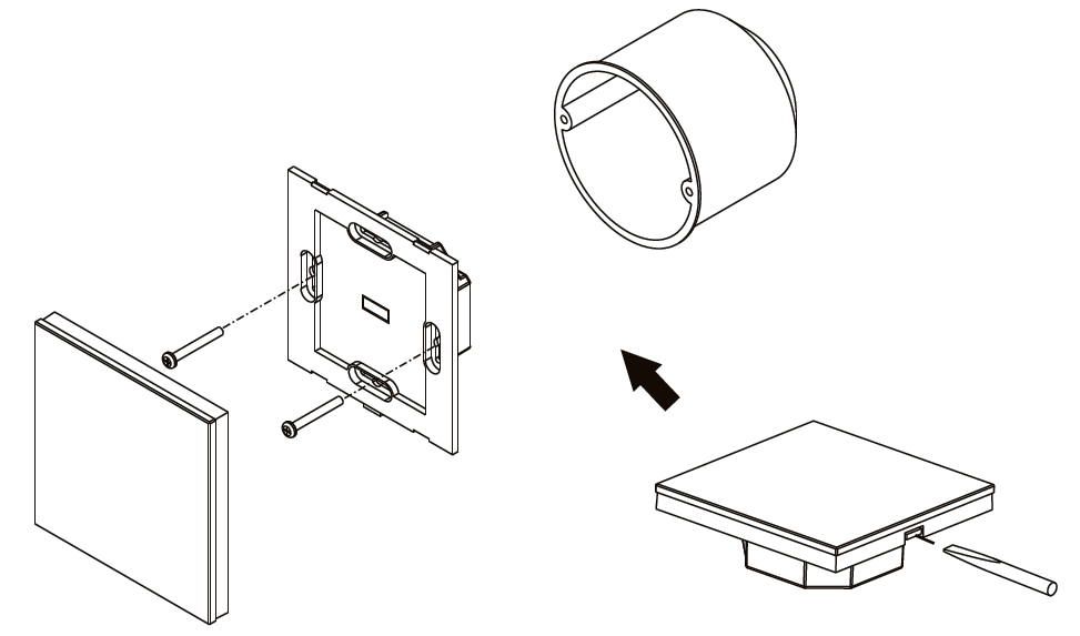 Led Rgb Wandpanel Steuerung Glas Touch Mit Dali Sr 2300ts Rgb