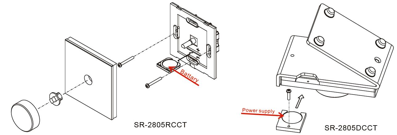 Dualweiß LED Steuerung Glas Funk SR-2805CCT