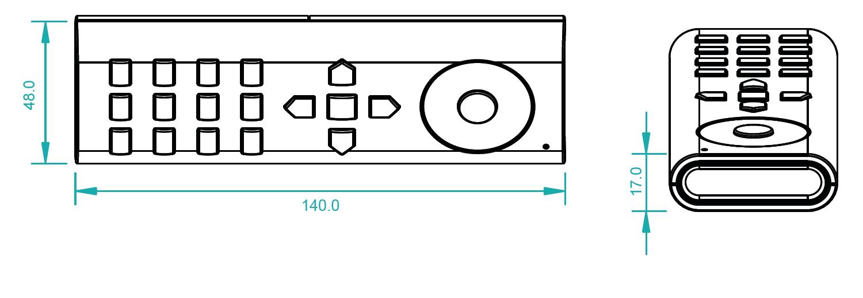 Dualweiß Fernbedienung Funk SR-2819CCT