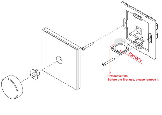 RGB Wandpanel Steuerung Dreh- / Druckregler Funk